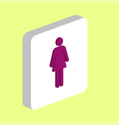 woman female computer symbol vector image