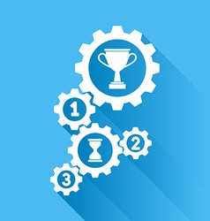 work and achievements vector image