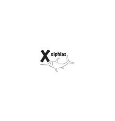 xiphias coloring page vector image