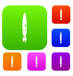 drawing brush set color collection vector image