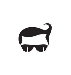 geek logo template vector image