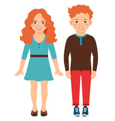 happy smiling red haired children vector image