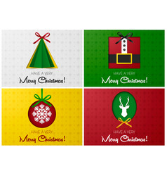 merry christmas greeting card or banner set with vector image