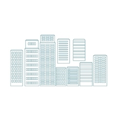 eps Set of line buildings vector image