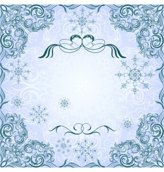 Romantic frosty vintage invitation for winter vector image