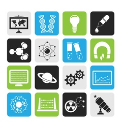 Silhouette science and education Icons vector image vector image
