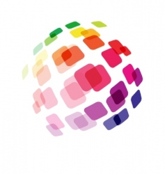 abstract ball made of squares vector image vector image