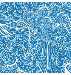 Abstract swirl ethnic seamless patternOutline vector image