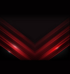 dark carbon fiber and red overlap element vector image