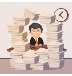 Hard working evening in office vector image