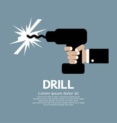 Drill In Hand vector image