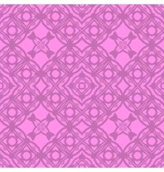 Pink Ornamental Seamless Line Pattern vector image