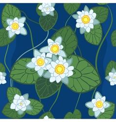 white lotus pattern vector image