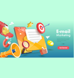 3d conceptual mobile email vector image