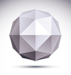 3d polygonal geometric object abstract design vector