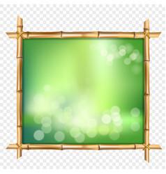 Abstract spa or beach bamboo tropical billboard vector