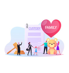 adoption custody and childcare social worker vector image