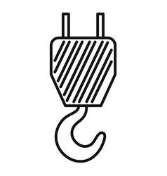 Aircraft repair crane hook icon outline style vector