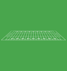 american football field background rugstadium vector image