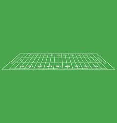 american football field background rugstadium vector image