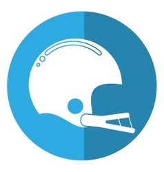american football helmet sport shadow vector image