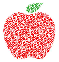 Apple collage of dollar vector