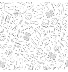 back to school supplies doodles set vector image