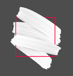 Background with white paint brush strokes vector