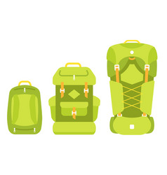 Backpack size baggage scale selection hiking vector