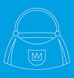 Bag icon outline style vector