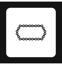 Bike chain icon simple style vector