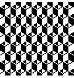 black and white cubes pattern seamless background vector image