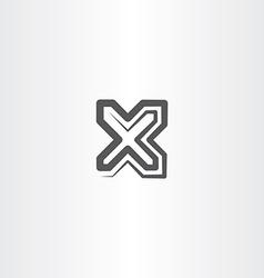 black x letter symbol logo sign icon vector image