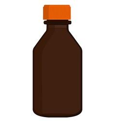 Brown glass bottle vector image