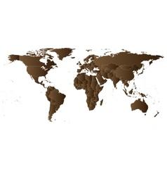 Brown political world map vector
