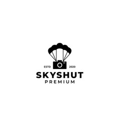 Camera or shutter or photography with parachute vector