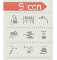 Car wash icon set vector image