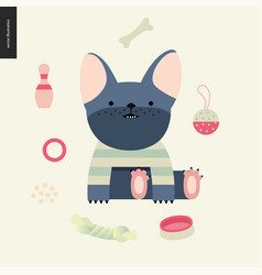 cartoon french bulldog vector image
