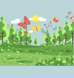 Cartoon landscape of clearing vector