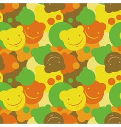 Childrens pattern of smiles vector image