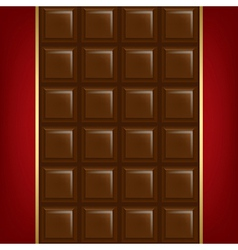Chocolate Background With Golden Line vector image
