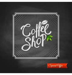 Coffee house special offer sign vector