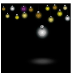 Colorful light bulbs on background vector