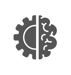 creative brain concept logo design template ai vector image