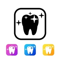 Dental icon in flat style vector