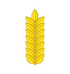 Ear of wheat icon in cartoon style vector