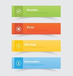 Elegant web notifications vector