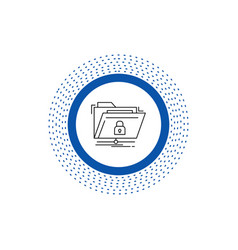 encryption files folder network secure line icon vector image