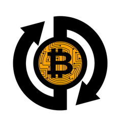 exchange bitcoin crypto currency stock exchange vector image
