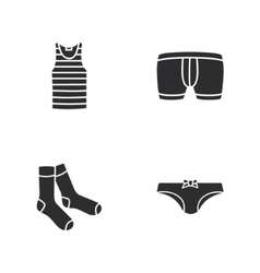 four modern clothes icons vector image